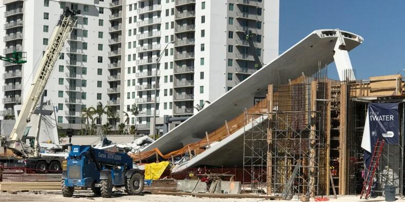 Un pont tout neuf s'effondre à Miami, au moins 6 morts