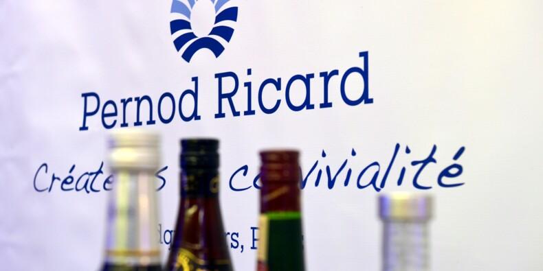 Pernod Ricard:le bénéfice bondit grâce à une forte activité aux Etats-Unis