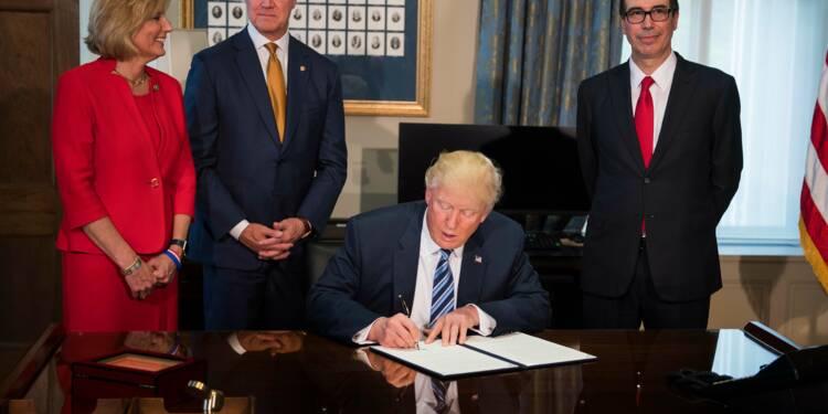 Régulation financière: Trump s'attaque à la loi Dodd-Frank