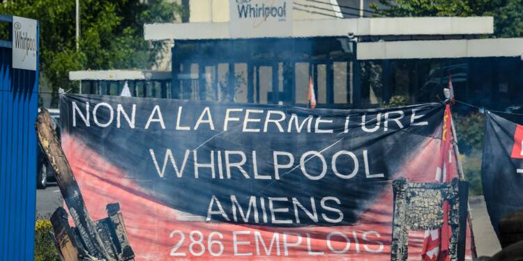 Whirlpool Amiens fermera en juin 2018, 600 emplois menacés