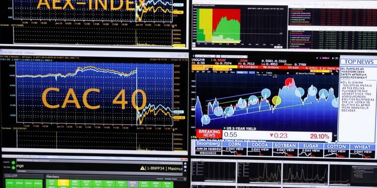 La Bourse de Paris, dépourvue de moteur, finit en recul