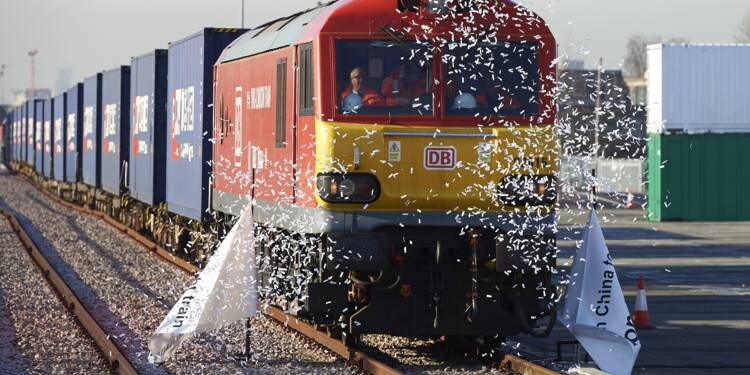 Le premier train direct de Londres est arrivé en Chine