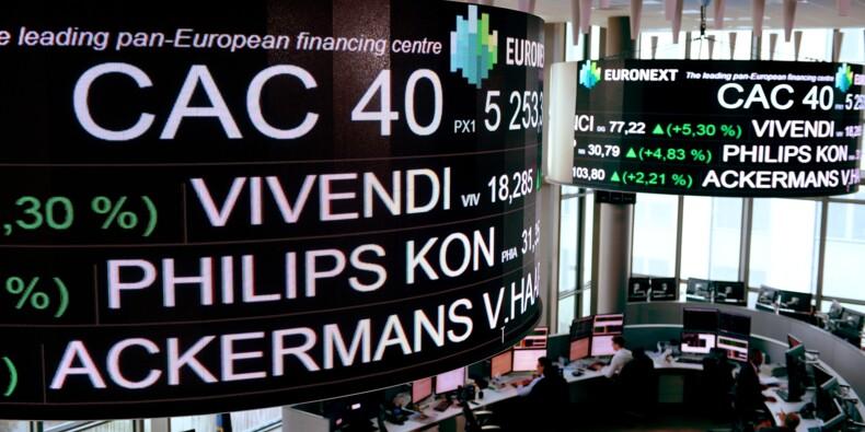 La Bourse de Paris finit en net recul, lestée par le marché obligataire (-1,64%)
