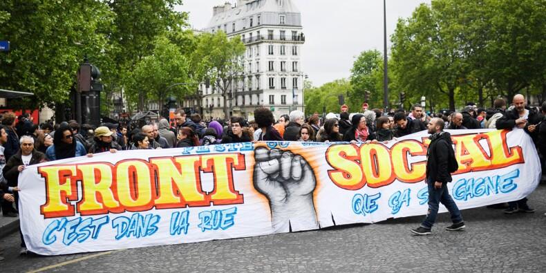 """""""Front social"""": 1ère manifestation après l'élection de Macron"""