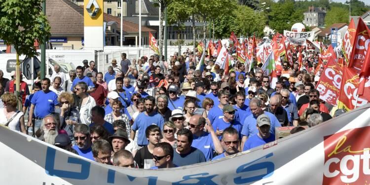 Creuse: marche de soutien aux salariés GM&S, les regards tournés vers Macron