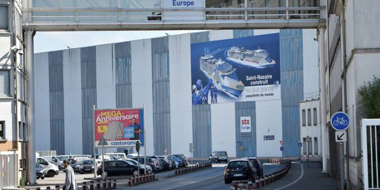 Nouveau débrayage de salariés des chantiers navals STX de Saint-Nazaire