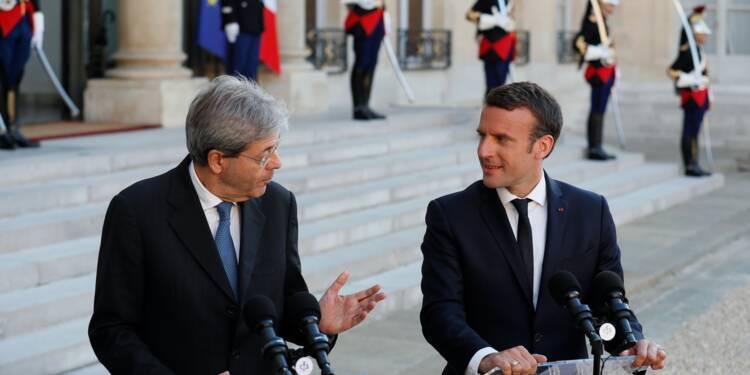 """Macron et Gentiloni veulent travailler à """"une relance"""" de l'Europe"""
