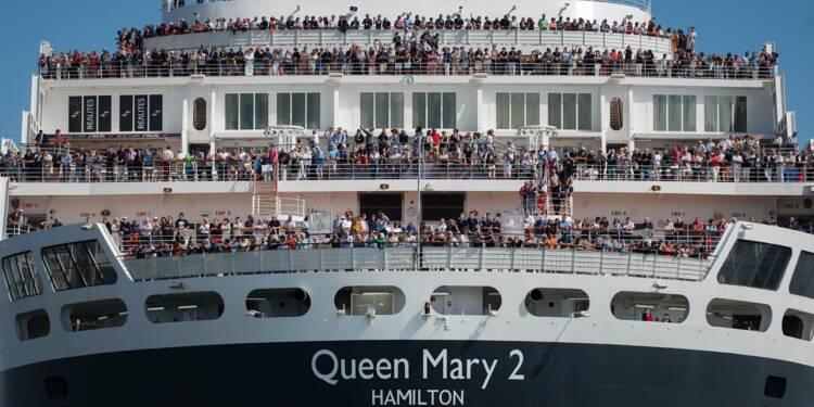 Le Queen Mary 2 est revenu à la maison à Saint-Nazaire