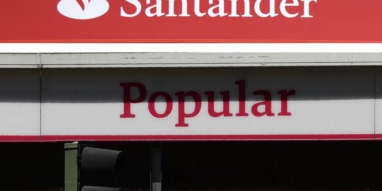 Espagne: Banco Santander supprime 1.100 postes après le rachat de Popular