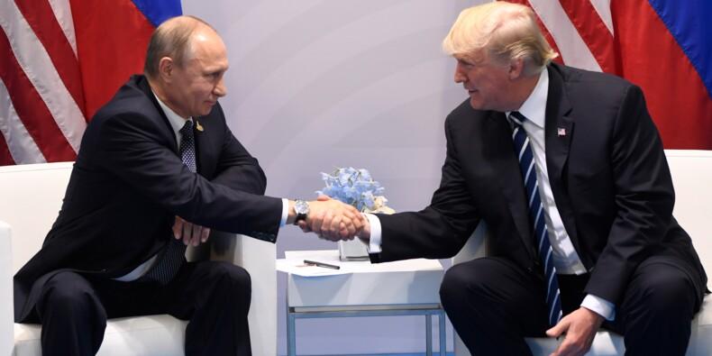 """Echanges """"vigoureux"""" mais """"alchimie positive"""" entre Trump et Poutine"""
