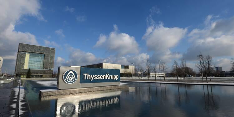 Thyssenkrupp profite de nouvelles commandes, objectifs 2017 maintenus