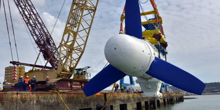 Cherbourg: l'usine d'assemblage d'hydroliennes en construction