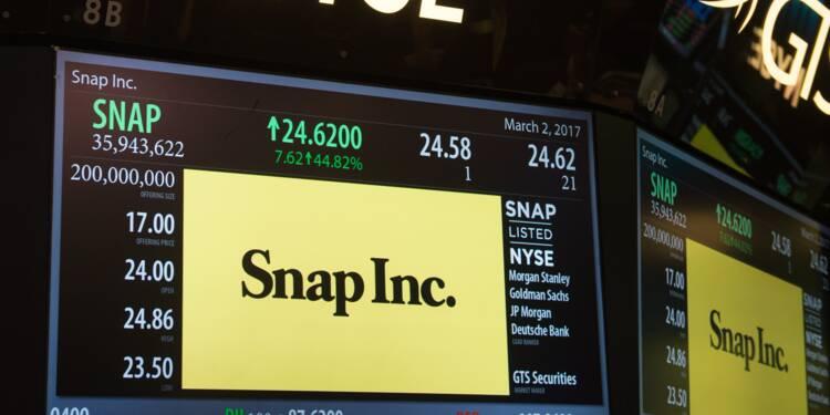 Snapchat s'effondre en Bourse