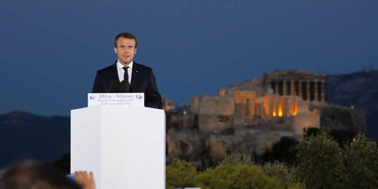 Devant l'Acropole, Macron lance son projet de refondation de l'Europe
