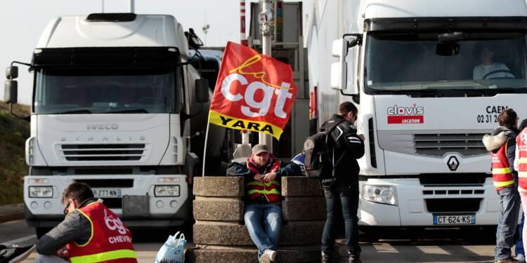 Réforme travail: opérations escargot et premiers blocages de routiers