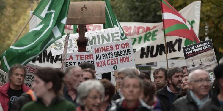 Nouvelle manifestation contre un projet de mine d'or au Pays Basque