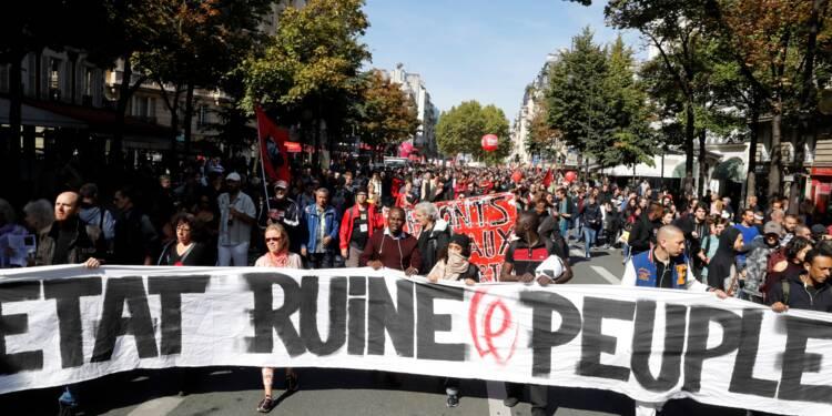 """Manifestations anti-Macron: un """"cortège de tête"""" toujours déterminé mais tourmenté"""