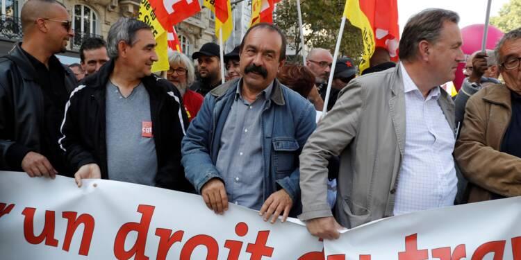 """Martinez revendique une mobilisation """"équivalente"""" au 12 septembre"""