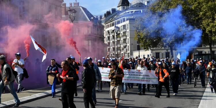 Manifestation des salariés menacés de GE Hydro/Alstom à Grenoble