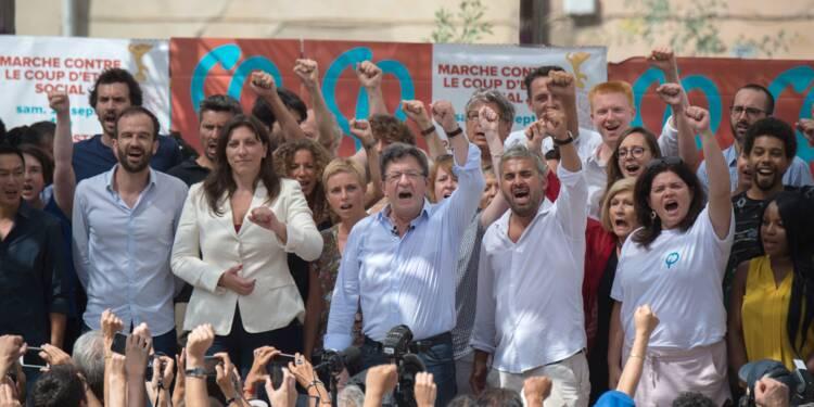 """Mélenchon espère une """"déferlante"""" ce samedi contre le """"coup d'Etat social"""" de Macron"""
