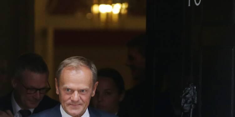 """Brexit: """"pas encore de progrès suffisants"""" dans les négociations, selon Tusk"""
