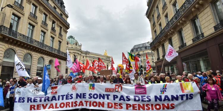 """Les retraités """"maltraités"""" dans la rue pour dénoncer la hausse de la CSG"""
