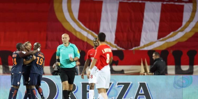 Ligue 1: Monaco en souffrance craque à la dernière seconde contre Montpellier