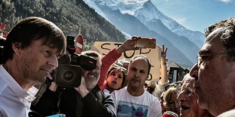"""Alpes: contre la pollution, Hulot expose une méthode faute de """"baguette magique"""""""