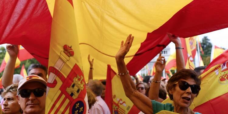 Madrid: des milliers de manifestants pour défendre l'unité de l'Espagne