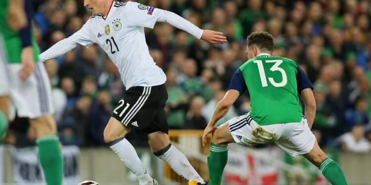 Mondial-2018: Allemagne qualifiée en battant l'Irlande du Nord 3-1