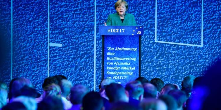 Allemagne : Merkel officialise sa volonté de gouverner avec les libéraux et les Verts