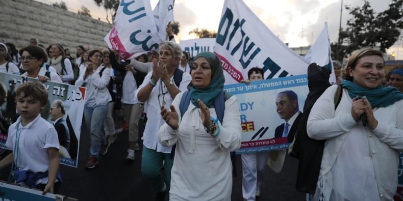 Israéliennes et Palestiniennes marchent pour la paix