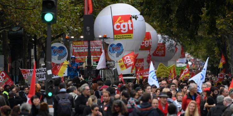 Fonctionnaires: 209.000 manifestants dans toute la France, selon le ministère