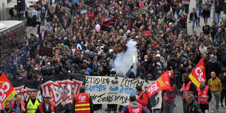 Fonctionnaires: 400.000 manifestants dans toute la France, selon la CGT