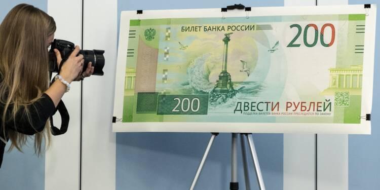 L'Ukraine interdit la circulation d'un billet de banque russe avec des images de la Crimée