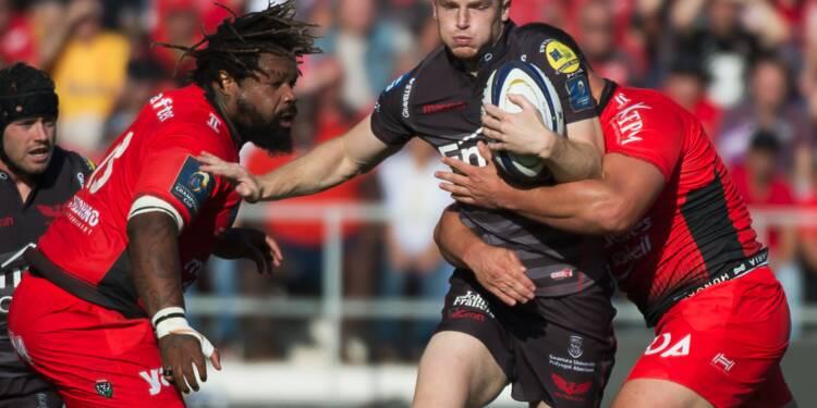 Rugby: Toulon et Clermont de justesse, La Rochelle épate, en Coupe d'Europe