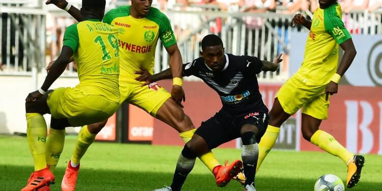 Ligue 1: Nantes freiné à Bordeaux