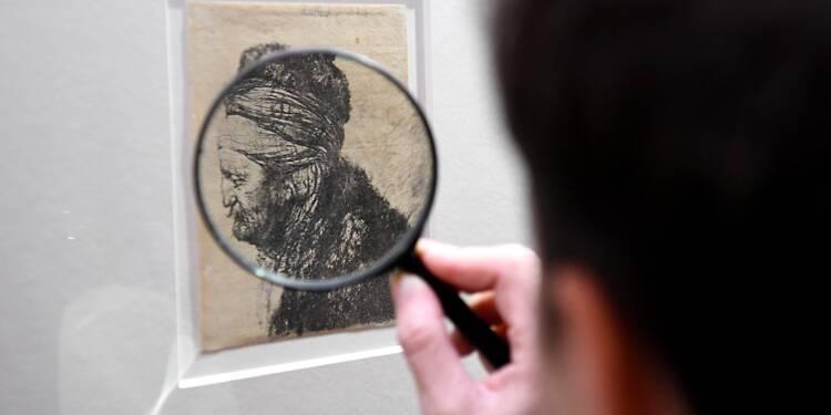 A Grenoble, 68 gravures de Rembrandt à examiner à la loupe