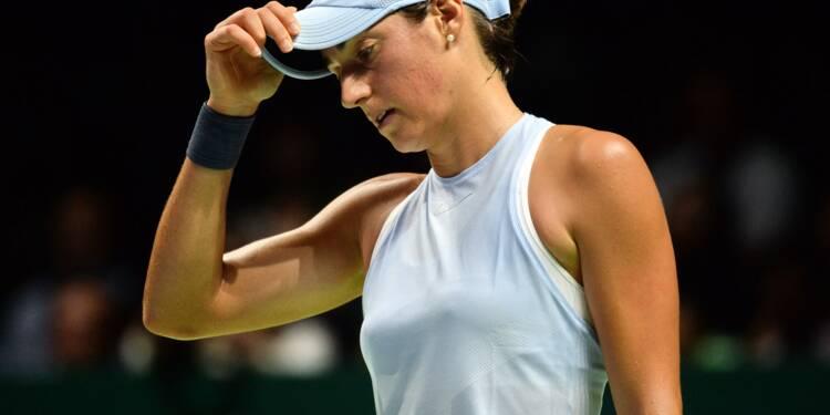 Tennis: Caroline Garcia, un baptême du feu difficile au Masters