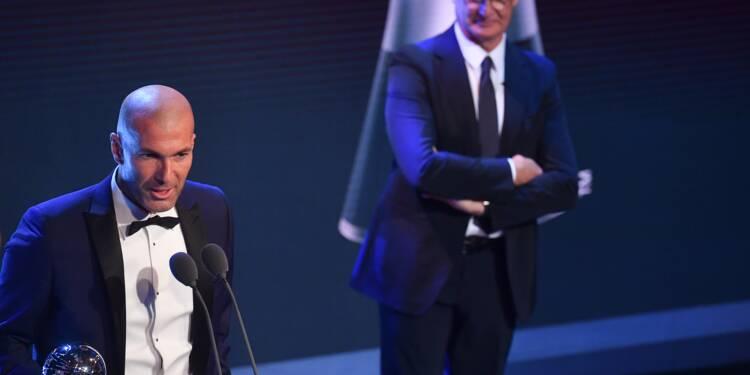 Prix Fifa: Zinédine Zidane sacré meilleur entraîneur de l'année 2017