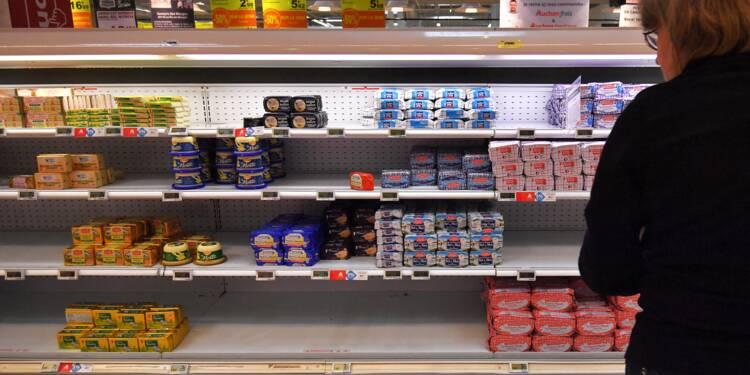 Beurre: près de la moitié de la demande non satisfaite fin octobre