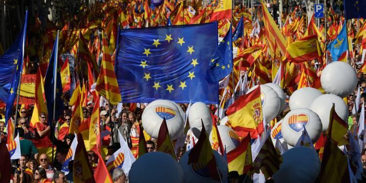 Un million de manifestants pour l'unité de l'Espagne, selon la préfecture