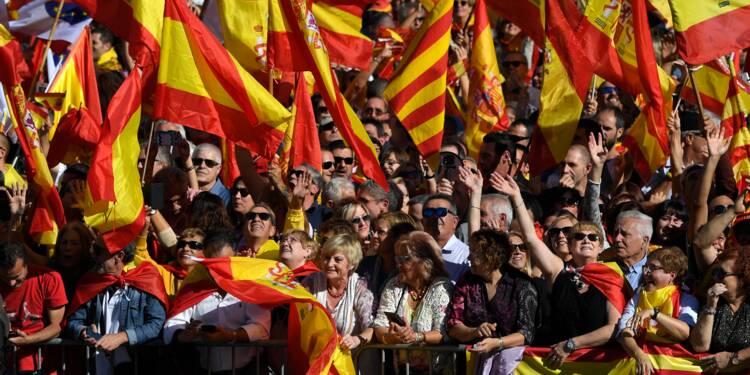 Catalogne: 300.000 personnes ont manifesté pour l'unité de l'Espagne