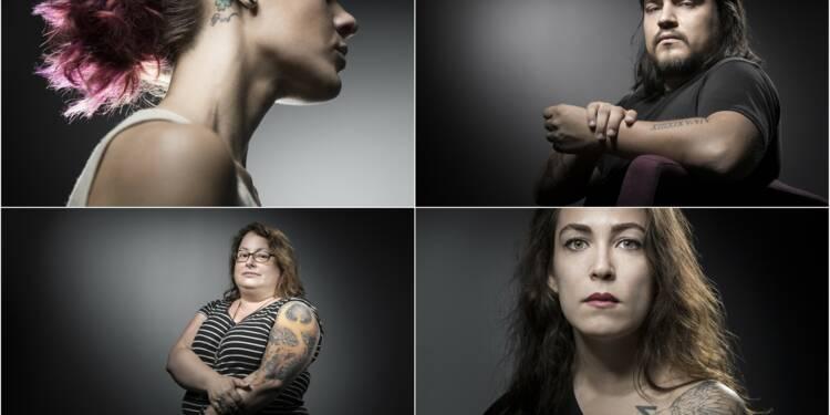 Victimes du 13 novembre: le tatouage comme thérapie