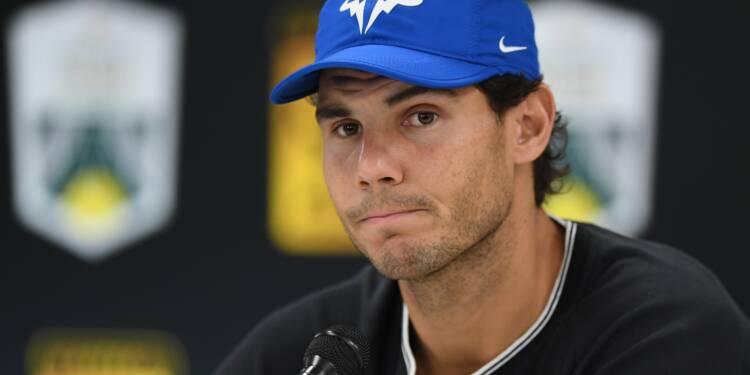 Tennis: Nadal forfait à Paris, blessé au genou droit