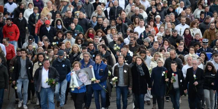 Mort d'Alexia Daval: hommage silencieux et solennel à Gray, le crime reste à élucider