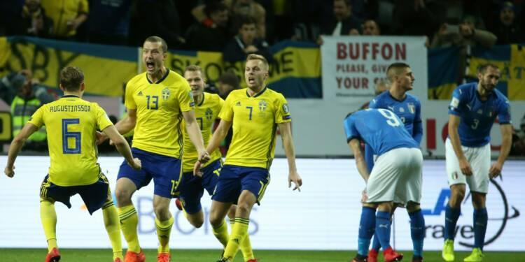Barrages Mondial-2018: l'Italie battue 1-0 en Suède,  qualification compromise