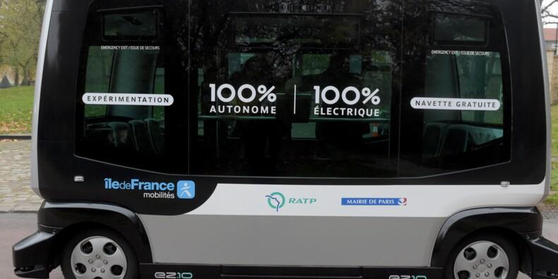 Nouveau test de navettes autonomes dans le bois de Vincennes