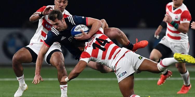 Le XV de France mène à la mi-temps contre le Japon (13-8)