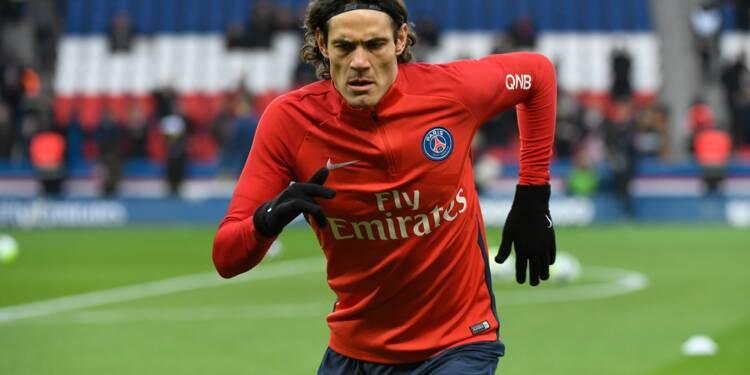 Ligue 1: Cavani sur le banc pour Strasbourg-PSG